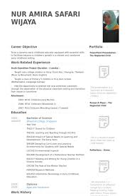 Resume For Internship Singapore