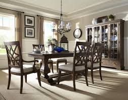 Astounding Formal Dining Room Furniture With Window Curtain And Light Fixture