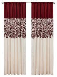 Lush Decor Belle Curtains by 17 Lush Decor Belle Curtains Estate Garden Red Window