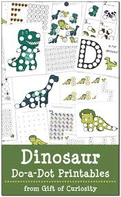 Dinosaurs Do a Dot Printables free} Gift of Curiosity