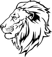 Homely Inpiration Lion Head Coloring Pages LION HEAD Colouring In Draw A