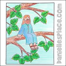 Zacchaeus In A Tree Coloring Sheet From Daniellesplace