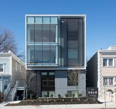 Astounding Brick House Exterior Design Featuring Large Glass Oslo Uli Case Studies A Small Nine Unit Infill Apartment Building That Features Distinctive