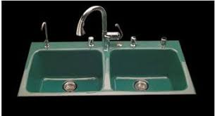 ceco model 743 4 hole drop in kitchen cast iron sink 43 x 22