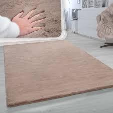 hochflor teppich wohnzimmer softes kaninchenfell imitat kunstfell beige