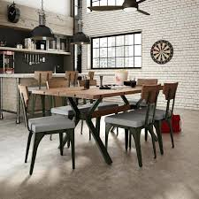 Industrial Dining Room Table 7 Piece Set Chic