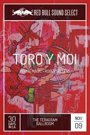 Toro Y Moi 2015 Red Bull Poster