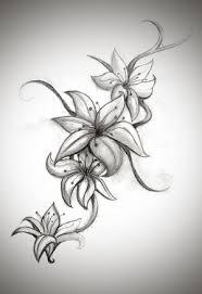 Black And White Lotus Flower Tattoo Design Photo