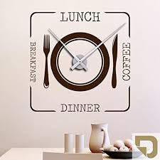 designscape wandtattoo uhr lunch coffee dinner breakfast