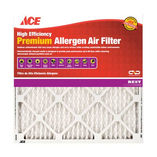 "Ace High Efficiency Premium Allergen Air Filter - 14"" x 25"" x 1"""
