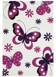 tapis de chambre fille tapis chambre enfant papillons beige de la collection