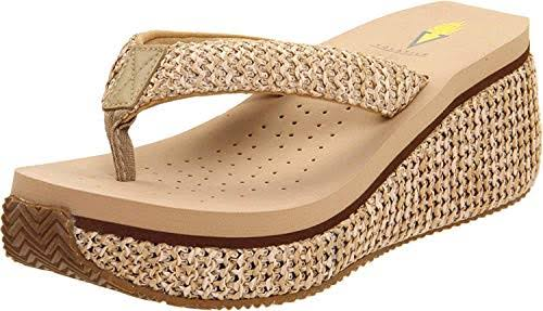 Volatile Women's Island Wedge Sandals - Natural, 7 USW
