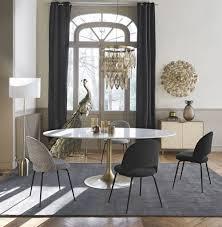 schwarze ösenvorhang aus samt 1 vorhang 140x300 maisons du monde