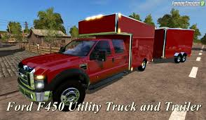 Ford F450 Utility Truck And Trailer V1.0 For Fs17 » Download ...