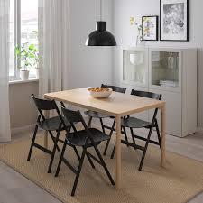 råvaror råvaror tisch und 4 stühle eichenfurnier schwarz 130x78 cm