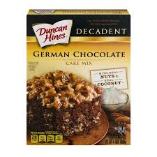 Duncan Hines Decadent German Chocolate Cake Mix 21 oz Walmart