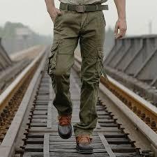 for men casual cargo pants pants mens combat cotton jungle