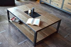 table bois metal industriel simple lot tables style industriel