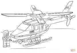 Click The Lego Police Helicopter Coloring Pages