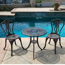 Belleze 3PC Bistro Set Outdoor Patio Furniture Design Cast ... Alinum Alloy Outdoor Portable Camping Pnic Bbq Folding Table Chair Stool Set Cast Cats002 Rectangular Temper Glass Buy Tableoutdoor Tablealinum Product On Alibacom 235 Square Metal With 2 Black Slat Stack Chairs Table Set From Chairs Carousell Best Choice Products Patio Bistro W Attached Ice Bucket Copper Finish Chelsea Oval Ding Of 7 Details About Largo 5 Piece Us 3544 35 Offoutdoor Foldable Fishing 4 Glenn Teak Wood Extendable And Bk418 420 Cafe And Restaurant Chairrestaurant