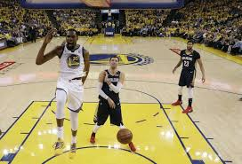 Golden State Warriors Kevin Durant 35 Reacts After Dunking Past New Orleans Pelicans