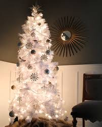 Pre Lit Pencil Cashmere Christmas Tree by Whisper Cashmere White Christmas Tree Treetopia