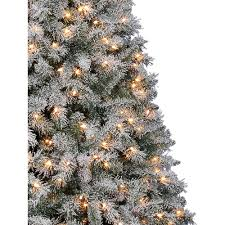 Flocked Artificial Christmas Trees Sale by Holiday Time Pre Lit 7 5 U0027 Vernon Pine Artificial Christmas Tree