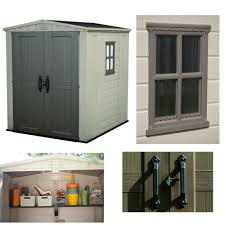 4x6 Plastic Storage Shed by Outdoor Storage Garden Shed Waterproof Lockable Sheds Resin Steel