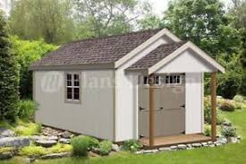 16x20 Shed Plans With Porch by 20 U0027 X 12 U0027 Guest House Garden Porch Shed Plans P72012 Free