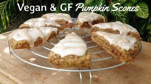Starbucks Pumpkin Spice Scone Recipe by Vegan U0026 Gf Pumpkin Scone Recipe With Spiced Pumpkin Glaze Youtube