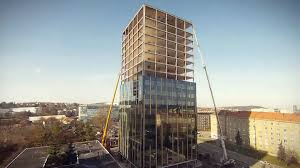 Unitized Curtain Wall Manufacturers by Okm Group Brno Unitized Curtain Wall Installation Youtube