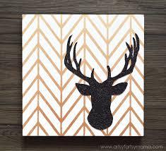 DIY Glitter Reindeer Art At Artsyfartsymama Royaldesignstudio