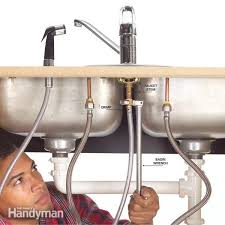 How To Repair A Leaky Kitchen Faucet How To Fix A Leaking Sink Sprayer Diy Family Handyman