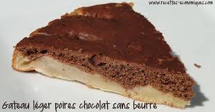 recette de cuisine gateau gateau léger poires chocolat sans beurre recettes de cuisine avec