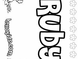 Ruby Coloring Pages Hellokidscom