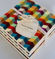 set of 4 ceramic tile coasters each coaster is individually