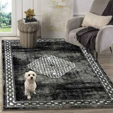 teppich schwarz 1920 siela quadratisch höhe 8 mm kurzflor glitzer look modern wohnzimmer schwarz designer