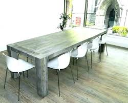 Distressed Dining Room Table Grey Gray Weathered Wood
