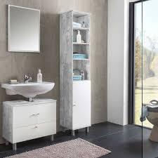 badezimmer komplettset necina in weiß beton grau 3 teilig