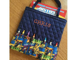 Superman Personalized Coloring Book And Crayon Tote
