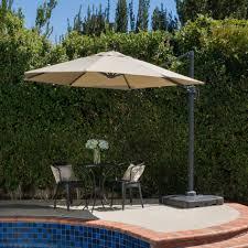 Solar Lighted Rectangular Patio Umbrella by Bar Furniture 10 Foot Patio Umbrella Large Cantilever Patio