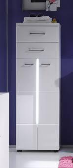 details zu bad midi schrank kommode in weiß hochglanz inkl beleuchtung badezimmer nightlife