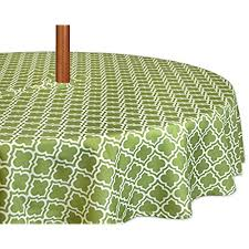 Outdoor Tablecloth With Umbrella Hole Uk by Round Outdoor Tablecloths Amazon Com