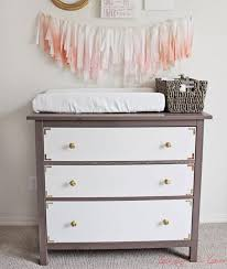 10 easy ikea hacks for the nursery changing table