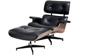 Leather Tufted Chair And Ottoman by Eames Lounge Chair Wood And Ottoman Top Black Leather Vitra