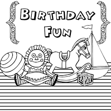 Fun Free Birthday Coloring Pages