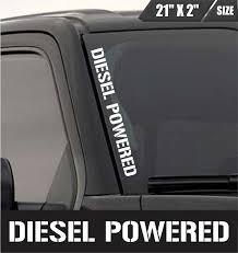 100 Truck Window Decal Diesel Powered Windshield Sticker Vinyl Bed