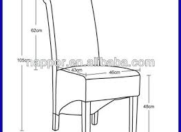 Dining Room Chair Height Standard Seat Medium Size Of Cm Depth