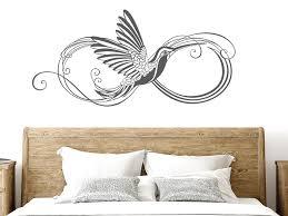 wandtattoo infinity ornament mit vogel wandtattoos de