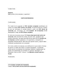 Carta De Renuncia En Colombia